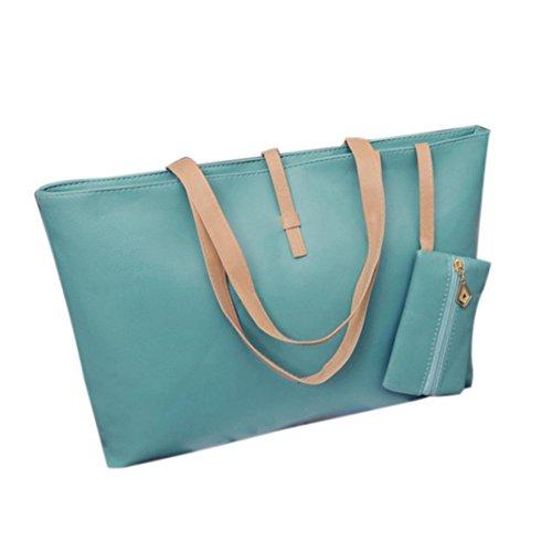 Imagen de bolso de mano de piel grande bolsos de bandolera baratos para mujer compras por esailq verde