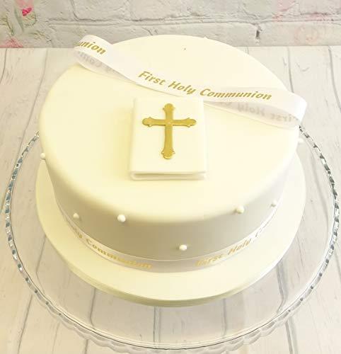 First Holy Communion Bible et ruban décoration pour gâteau