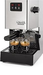 Gaggia RI9403/18 Classic 2015 Coffee Machine, 1050 W, 15 Bar, Brushed Chrome