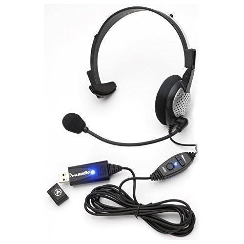Monaural Spracherkennung, USB-Headset mit Rauschunterdrückung, Mikrofon, für Dragon NaturallySpeaking 13, Dragon 13 Home, Premium, Professional & Dragon Dictate für Mac Usb Monaural Pc Headset