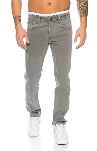 Rock Creek Herren Jeans Hose Denim Stretch Regular Fit Jeanshose Stonewashed W29-W44
