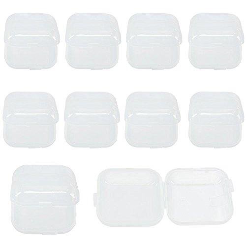 ststoff Kleine Box Haken Schmuck Ohrstöpsel Container Lagerung Heißer 10 stücke (Mini-container)