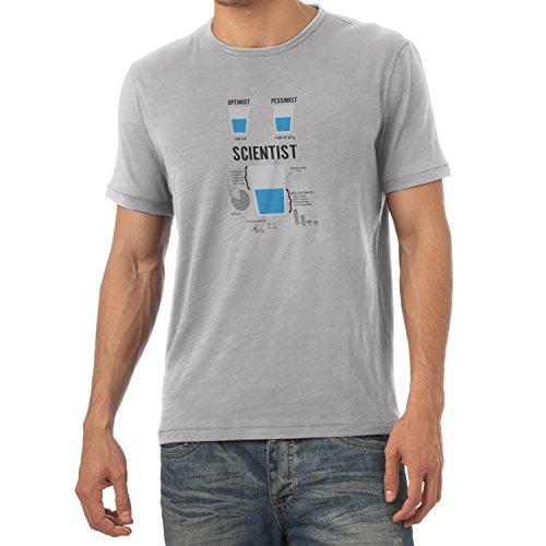 Preisvergleich Produktbild NERDO - Optimist Pessimist Scientist - Herren T-Shirt,  Größe XL,  grau meliert