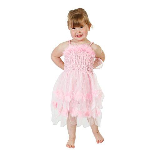 'Wilde Fee' Kleid Kinder (3-8 Jahre) - Fee Kostüm Kinder - Rosa - Lucy Locket (128)