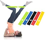 SUNDIX Resistance Loop Exercise Bands Fitness Bands 5x power body band, workout bands for yoga rehab crossfit