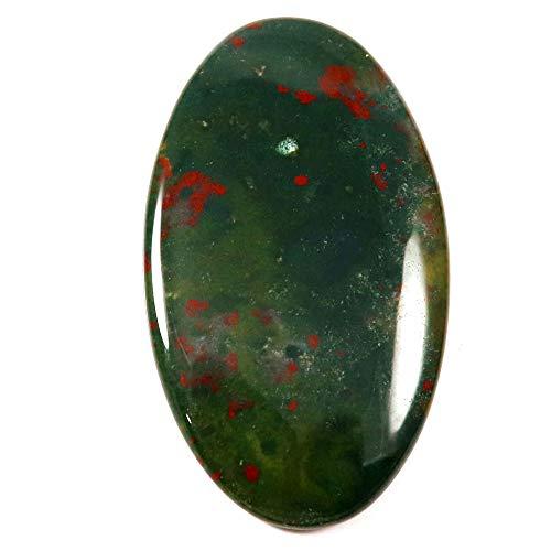 Gems&JewelsHub 52,50 Karat 100% natürlicher wunderbarer Designer Blutstein Ovaler Cabochon