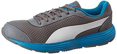 Puma Men's Reef Fashion Dp Quiet Shade, Blue Danube and Puma White Running Shoes - 11 UK/India (46 EU) (36213108)