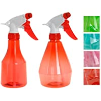 Pink Set of 350ml & 500ml Plastic Hand Trigger Spray Bottle for Hairsalon Garden