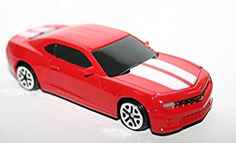 Chevrolet Camaro Red and White RMZ City 3004 1:64 Scale Model Car Diecast Metal Junior Collection