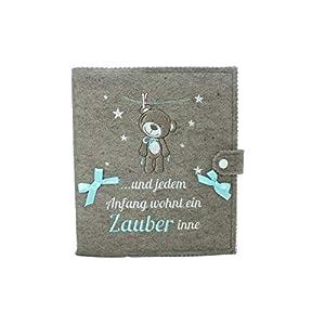 Babytagebuch, Babyalbum DIN A5, Geschenk zur Geburt. 46 Innenseiten zum Ausfüllen und Platz für Fotos