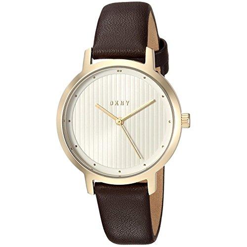 DKNY Damen-Armbanduhr 28mm Armband Kalbsleder Gehäuse Edelstahl Quarz NY2639