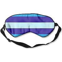 Comfortable Sleep Eyes Masks Blue Stripes Pattern Sleeping Mask For Travelling, Night Noon Nap, Mediation Or Yoga preisvergleich bei billige-tabletten.eu