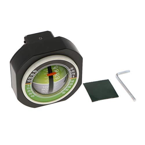 Misuratore di pendenza per auto indicatore di inclinazione della pendenza angolare Indicatore di livello Strumento di ricerca del bilanciamento del gradiente per auto nero