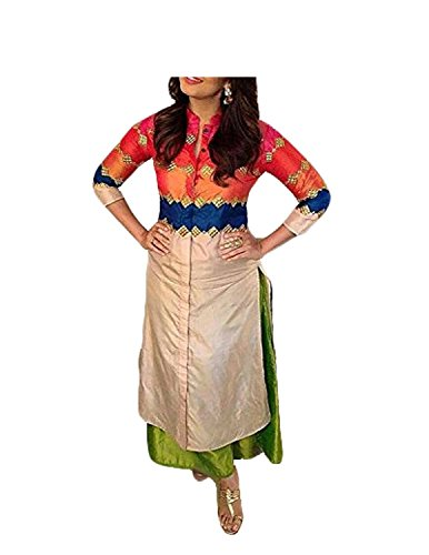 Radadiyatrd Women's Cotton Silk Kurti( ,Multicolor,Free Size)