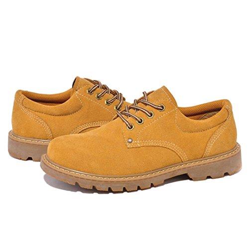 Heart&M scarpe da uomo casual retrò taglio basso scamosciato pelle/lavoro/skater soil yellow