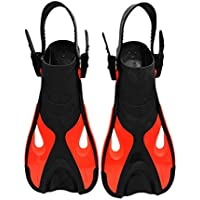 NiceButy AF701 regolabile per Bambini per Bambini Snorkeling Lunghe pinne Pinne Diving Sport Equipment Interessante Red