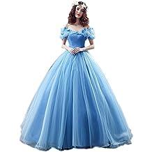 Engerla Women 's Organza Cosplay Partido Prom Vestido largo con cordones vestidos de novia quinceañera