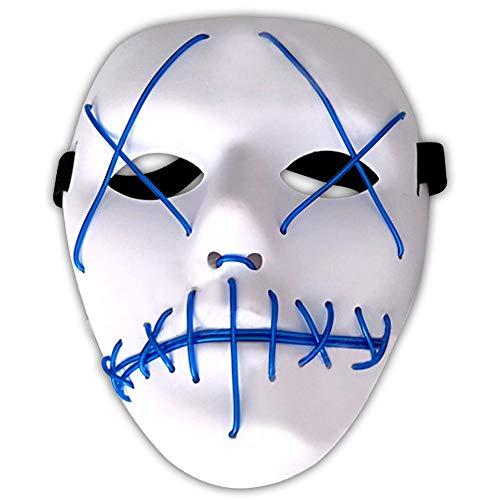 Amasawa LED Light EL Wire Cosplay Maske Ohne -