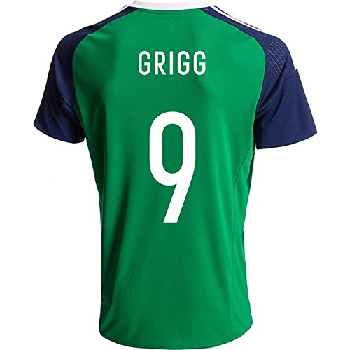 2016 Super Hot Nordirland 9 wird Grigg Home Football Jersey in Grün Medium grün