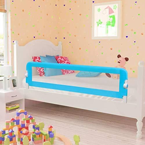 Wakects Safety 1st Bettschutzgitter, Bettgitter Rausfallschutz beim Schlafen Klappbar passend für Kinder-Eltern-Bette 150 x 42 cm (L x H) Blau