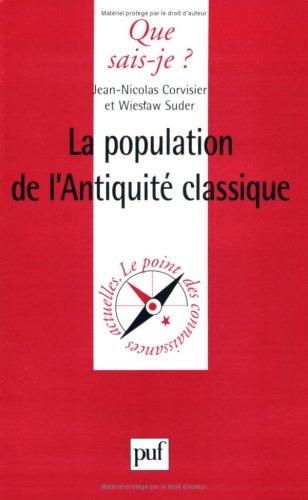 La Population de l'Antiquité classique