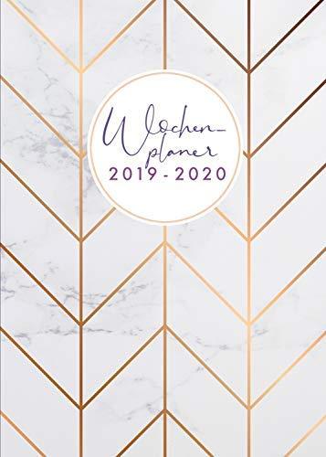 Wochenplaner 2019-2020: Juli 2019 bis Dezember 2020, modernes Marble Cover Design mit rose-gold Pattern, 18 Monate Wochen- und Monatsplaner, 1 Woche ... 15x21 cm (Bürobedarf 2019-2020, Band 3)