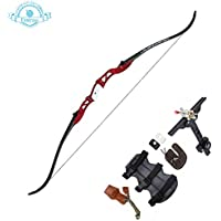 """Funtress 66"""" Takedown Recurve Bow with Metal Riser Archery Competition Athletic Weights 20~36 LB Right Hand Archery Kit for Outdoor Training Hunting Shooting"""