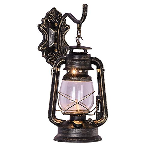 injuicy E27Vintage retro Eisen Laterne-Lampen-Taschenlampe Wand Öl Kerosin Lampen Wandleuchten Bar Flur Wandleuchte Kerosene Projektor, Injuicy 60.00W, 220.00V
