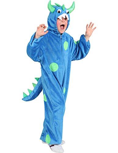 Faschingskostüm Kinder Monster blau-grün (116)