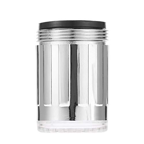 Eletam Wasser-Hahn-Glühen-Dusche-LED-Hahn-Licht-Druck-Sensor 3 Farben RGB Bunte Mini-Küche Badezimmer-Zubehör