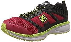 Fila Unisex Windspeed Red, Black and Yellow Running Shoes -6 UK/India(40 EU)(7 US)