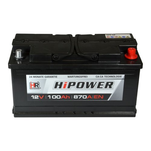 Preisvergleich Produktbild HR HiPower Autobatterie 12V 100Ah inkl. Polfett ersetzt 88 90 92 95 Ah Starterbatterie KFZ-Batterie