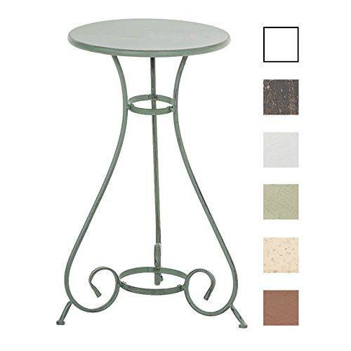 CLP Eisentisch Alan Design I Gartentisch mit geschwungenen Beinen I erhältlich Antik Grün