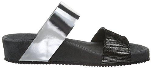 Sofie Schnoorsandals Larges Lanières - Sandales Ouvertes Pour Femmes Multicolore (gris Argent)