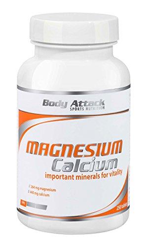 #Body Attack Magnesium+Calcium, 1er Pack (1x 250 Tabletten)#