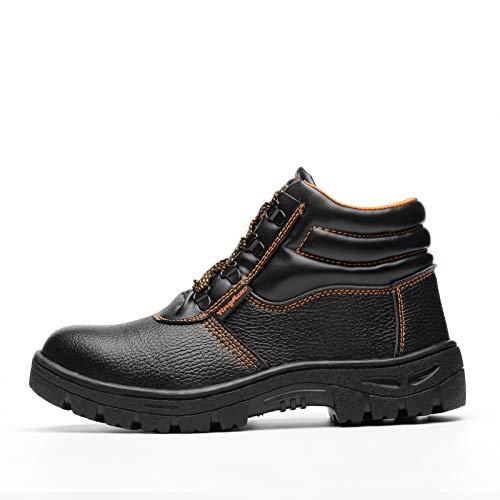 JEREME Herbst und Winter kämpfen Männer hohe Zehe Anti-Break-Arbeitsschuhe Sicherheitsschuhe wasserdicht rutschfeste Arbeitsschuhe Schuhe