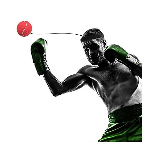 Eubi E302 Elasticity Head Band Wearing Boxing Ball Training Quick Punching (Rojo) 5