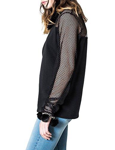 Cheap Monday Women's Vice Women's Black Sweatshirt Cotton Black