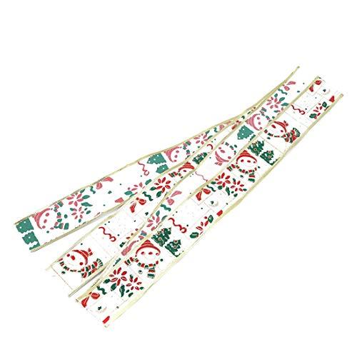 VWH Weihnachten Ribbons Grosgrain Satin Stoff Ribbon Set für Weihnachtsschmuck Geschenkpapier Hochzeit Dekorationen (weiß) -