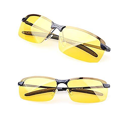 Ardisle Nacht Fahren Brille HD Anti Blendung Vision Polarisiert Gelb Blendschutz zum Tag Abend Autofahrt Linse Getönt Unisex Rahmen für Day Evening Car Rides Konzipiert für Nachtfahrten Reiten Schutz