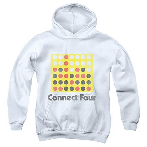 Yoga Clothing For You Connect Four Kids Hoodie Vintage Logo White Hoody, Medium Toy Machine Hoody