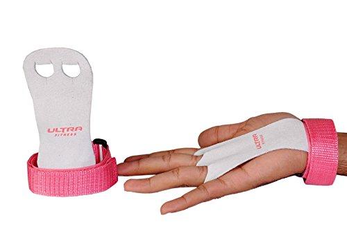 Ultra Fitness® Handflächenschoner, strukturiertes Leder, für Gymnastik, Klimmzüge, Krafttraining, Boxen, Kugelhantel und Gewichtheben (Kinder-/Jugendgröße),schützt die Handflächen vor dem Einreißen und vor Schwielen,für gesunde unversehrte Hände, rose, S