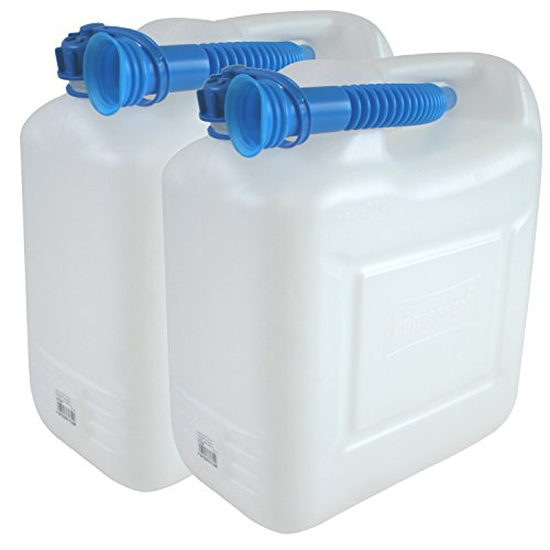2 Wasserkanister ECO 10 Liter 2er Set Fassungsvermögen mir blauen Auslaufrohr
