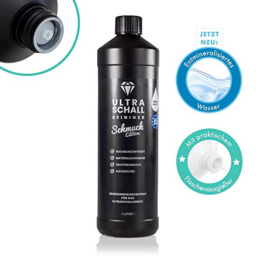 NEU: Ultraschallreiniger Konzentrat - Schmuck Edition 1 Liter - Reinigungskonzentrat für jedes Ultraschallreinigungsgerät, Ultraschallbad (Schmuck-Edition 1000 ml) (Ultraschall-schmuck)