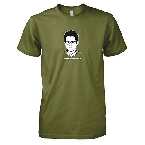 Preisvergleich Produktbild TEXLAB - Abrams: I want to Believe - Herren T-Shirt,  Größe XL,  oliv