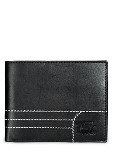 TSX Men's Leather Black Wallet