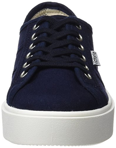 Victoria Lona, Baskets Basses Mixte Adulte Bleu (Marino)