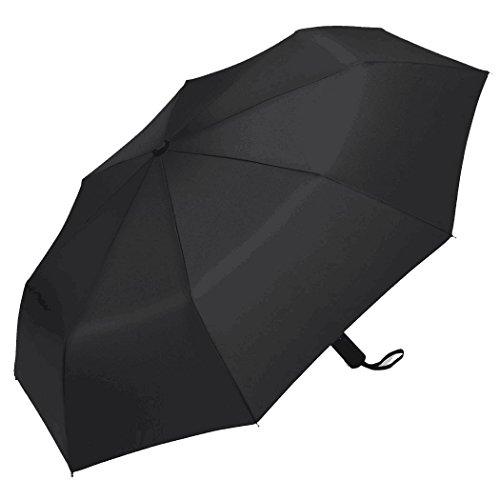 Bigmeda Automatischer Regenschirm, Windtest bei 130 km/h Schließmechanismus 200T Kompakt und Leicht Auf-Zu-Automatik Regenschirm Taschenschirm für Männer und Frauen