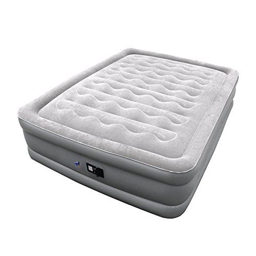 Sable Air Mattress with Built-in Electric Pump and Repair Kit, Inflatable Airbed for Camping, Travelling, Overnight Guests