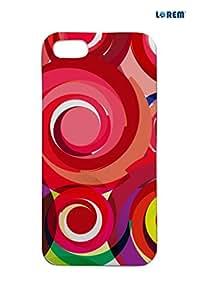Lorem Back Cover For Apple iPhone 5/5S -Multicolor-L14419